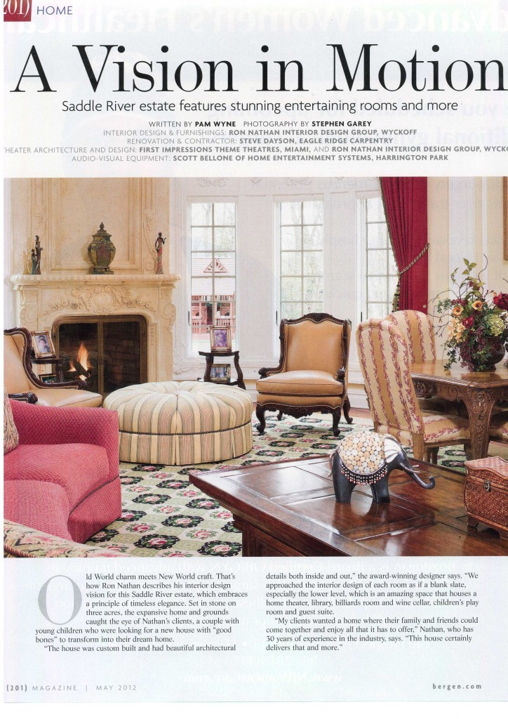 May 201 Article Interior Decorator New Jersey